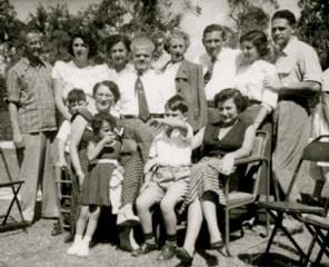 Family in Guatemalia for my Bar Mitzvah. Standing L-R: José Habe, aunt Lily, Sara,   my grandparents, Joe, Sarita and Abie Habie. Sitting: Joel Solkoff, Zakiya Habie. Carol Gerstenhaber, Marice, and Miriam Solkoff