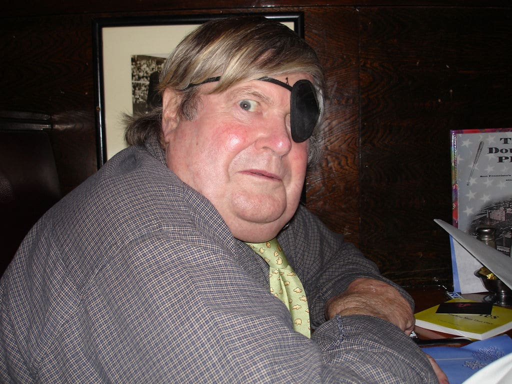 Warren Hinckle III in a San Francisco bar 36 years after he hired me. Photo courtesy Wikipedia
