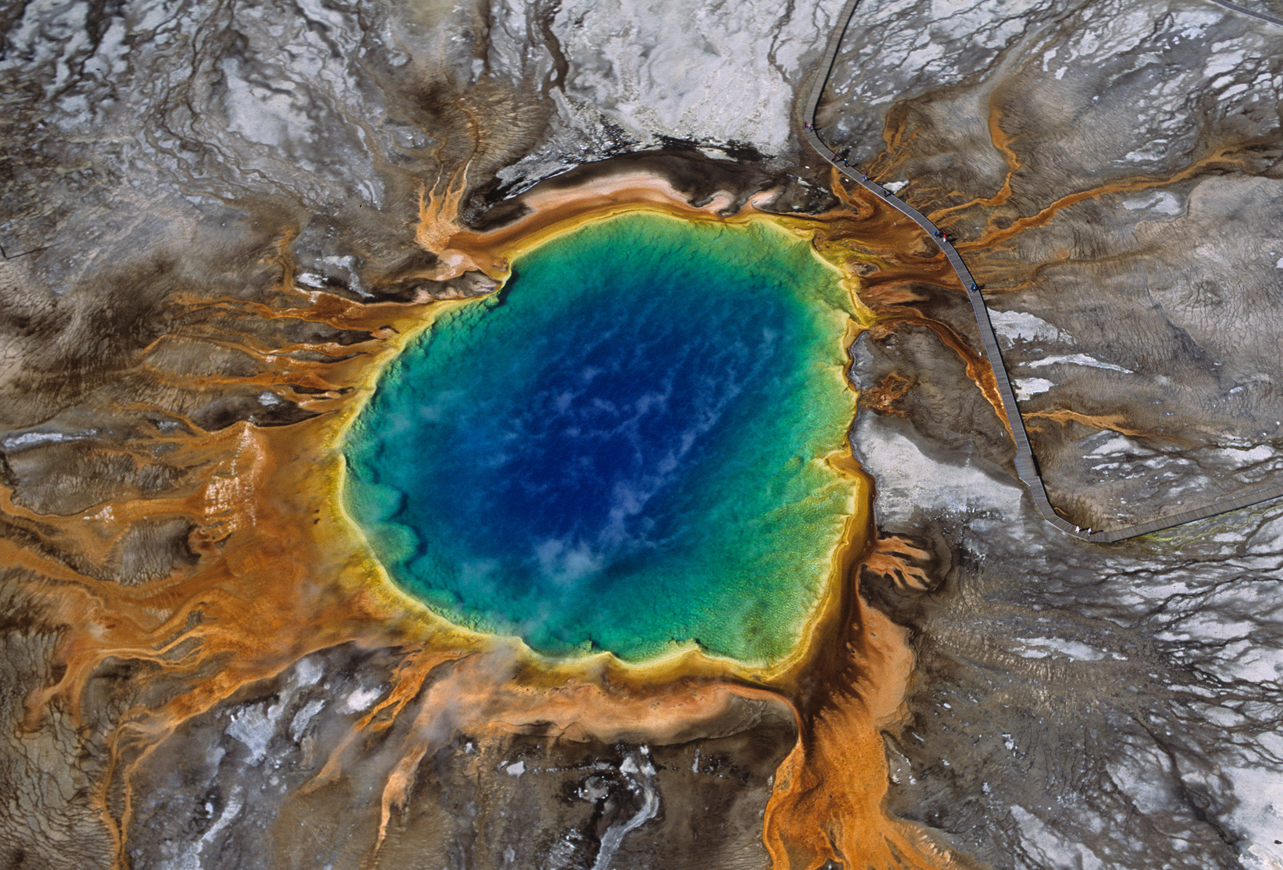 Grand Prismatic Spring, Yellowstone National Park, Wyoming. Photo courtesy Chris Mickey, Media & Public Relations Manager Wyoming Office of Tourism