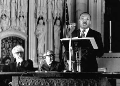Martin Luther King speaks out against the Vietnam War, Riverside Church, New York City, April 4, 1967. I was a sophomore at Columbia at the time and attended the speech. To the left is bearded Rabbi Abraham Heschel, Professor of Theology and Mysticism at the Jewish Theological Seminary. Rabbi Heschel wrote a letter to my draft board saying that it was in keeping with Jewish tradition for me to be a conscientious objector