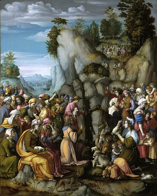 Bacchiacca_-_Moses_Striking_the_Rock