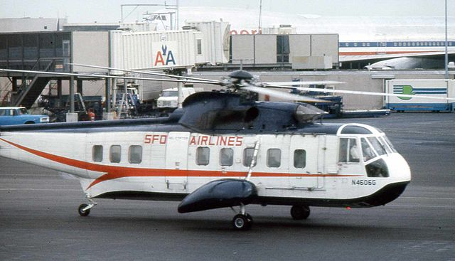 SFO Helicopters Airlines operated from 1961 to 1965. This photograph from Wikipedia does a good job of showing the helicopter that made it possible for me to see San Francisco Bay from the air, but up close and personal.