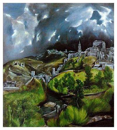 From the time I was three until each of my daughter s were old enough to vote, my grandmother displayed a reproduction of thes El Greco landscape. The landscape is a symbol of...