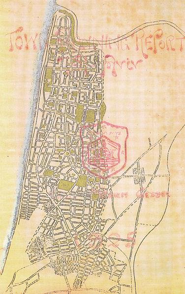 Patrick Geddes 1925 plan for Tel Aviv