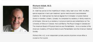 Dr. Richard Allatt, Medical Director HealthSouth Pleasant Gap