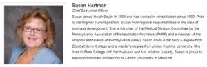 Susan Hartman, CEO HealthSouth, Pleasant Gap