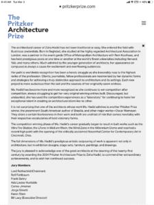 Pritzker Architecture Prize winners