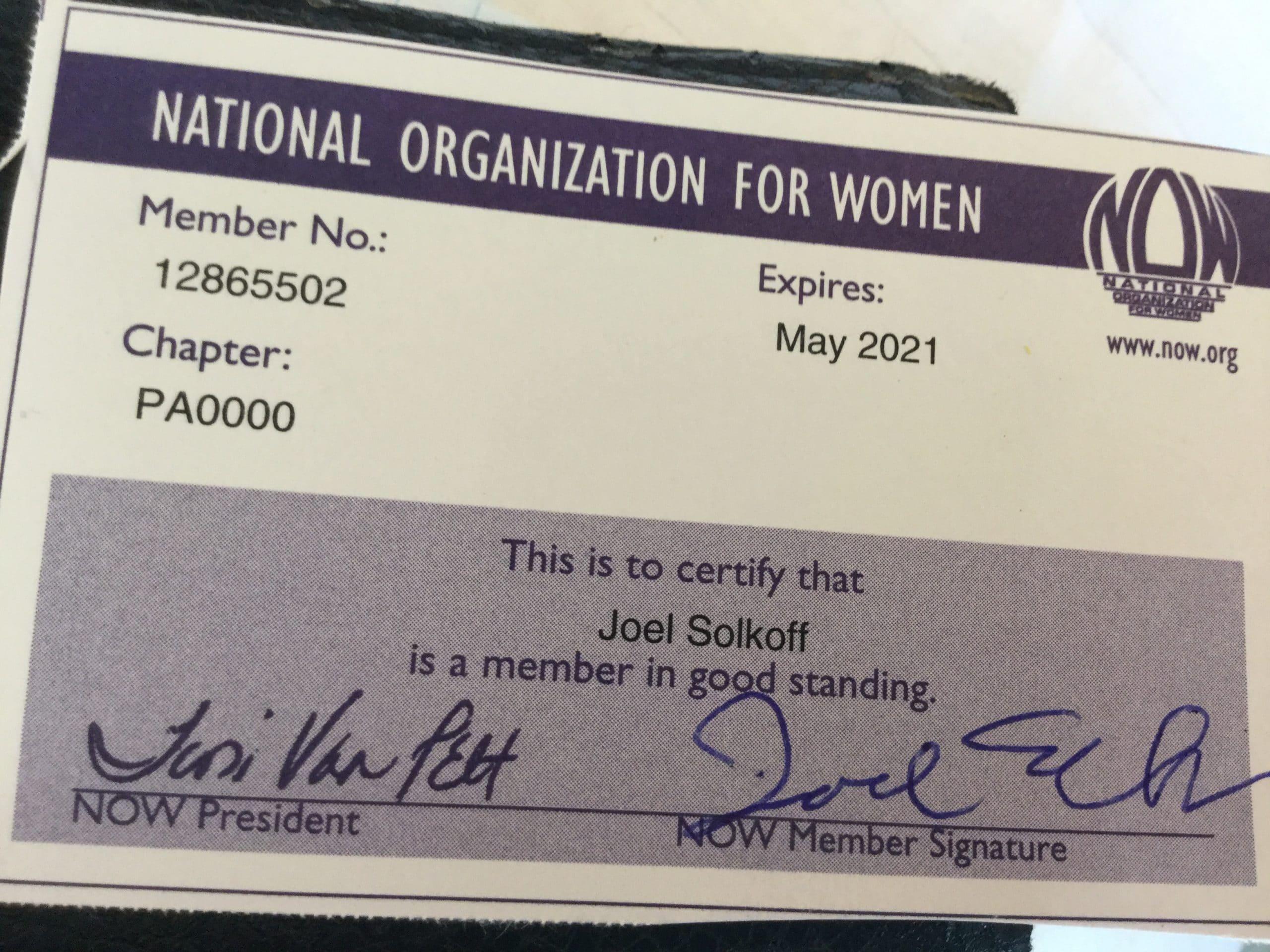 NOW membership card